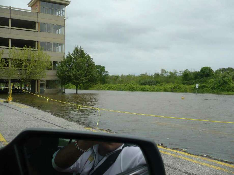 "User-submitted photo of damage from Hurricane Irene.  Submitted by Danny Rocco ""Mall Parking Garage"" Photo: Contributed"