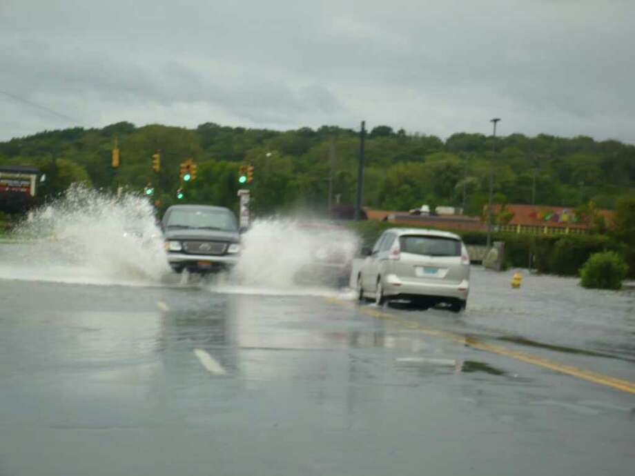 "User-submitted photo of damage from Hurricane Irene.  Submitted by Danny Rocco ""Car Flume"" Photo: Contributed"