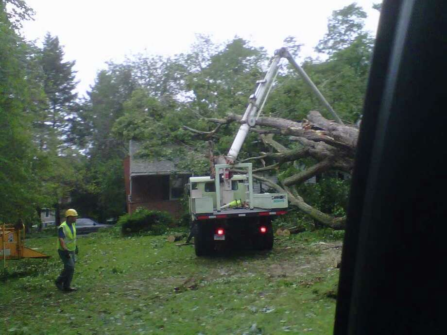 "User-submitted photo of damage from Hurricane Irene.  Submitted by ldo2011 ""Great Plain Rd Danbury"" Photo: Contributed"