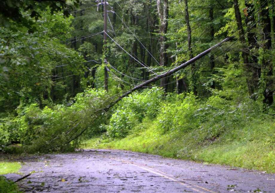 "User-submitted photo of damage from Hurricane Irene.  Submitted by CTYankee ""Little Bear Hill Road, New Milford"" Photo: Contributed"