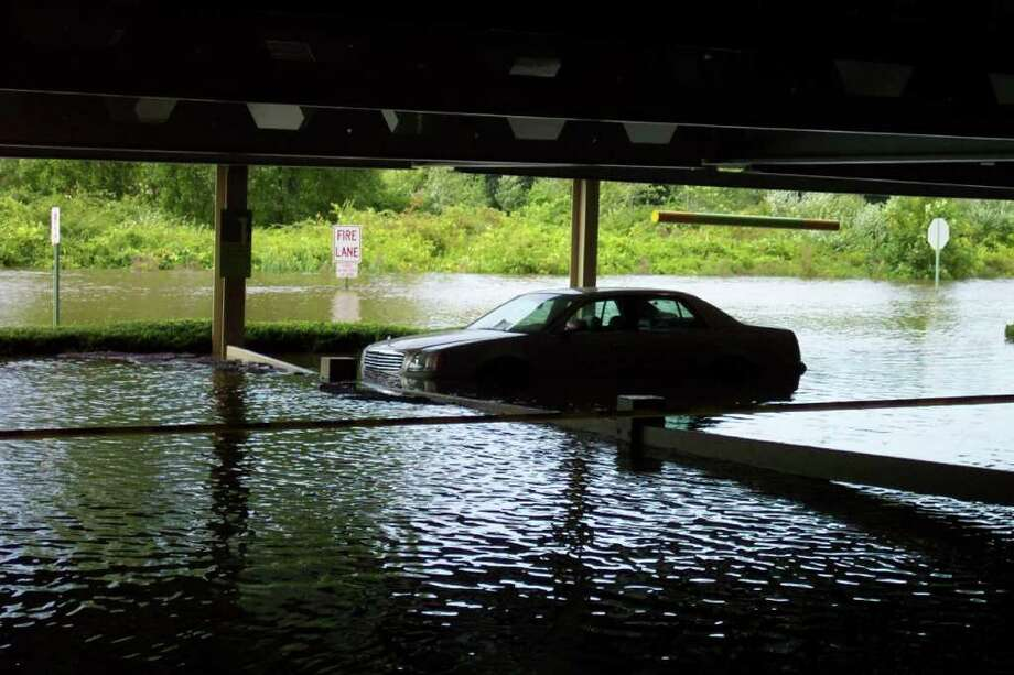 "User-submitted photo of damage from Hurricane Irene.  Submitted by DanburyKen ""I parked in the garage so it wouldn't get wet!"" Photo: Contributed"