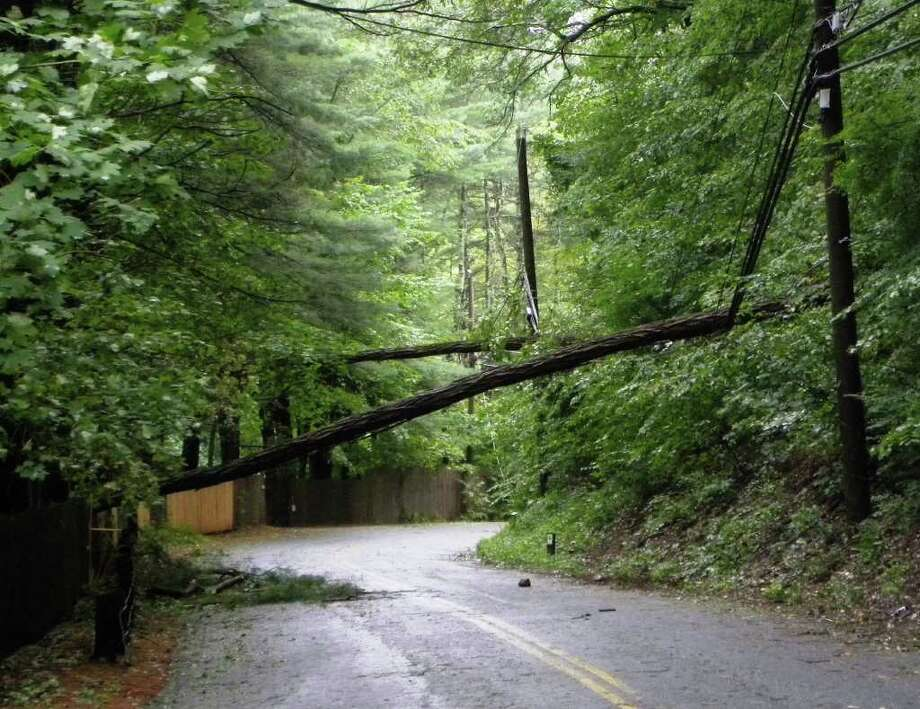"User-submitted photo of damage from Hurricane Irene.  Submitted by CTYankee ""Merryall Road, New Milford"" Photo: Contributed"