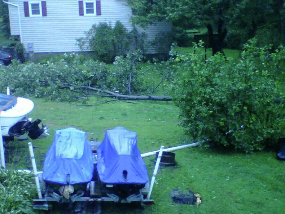 "User-submitted photo of damage from Hurricane Irene.  Submitted by Michelle ""Stony Hill/Bethel"" Photo: Contributed"