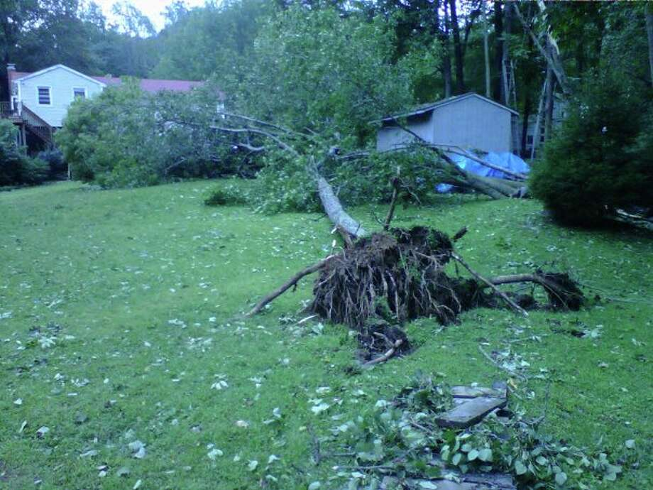 "User-submitted photo of damage from Hurricane Irene.  Submitted by Michelle ""Stony Hill"" Photo: Contributed"