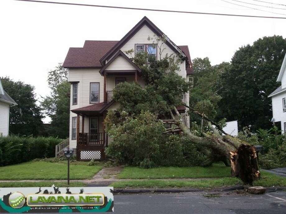 "User-submitted photo of damage from Hurricane Irene.  Submitted by lavainanet ""irene"" Photo: Contributed"