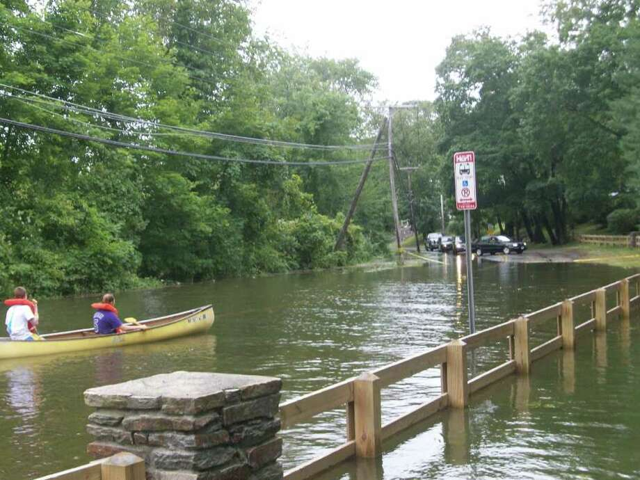 "User-submitted photo of damage from Hurricane Irene.  Submitted by jamiebilly ""canoeing down lake ave"" Photo: Contributed"