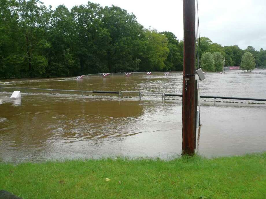 "User-submitted photo of damage from Hurricane Irene.  Submitted by Roe ""Under almost 4 feet of water from the Pomperaug RIver"" Photo: Contributed"