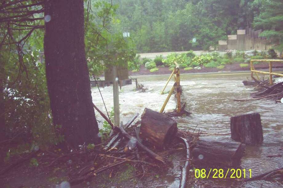 "User-submitted photo of damage from Hurricane Irene.  Submitted by Dee ""Never saw water this high before. "" Photo: Contributed"