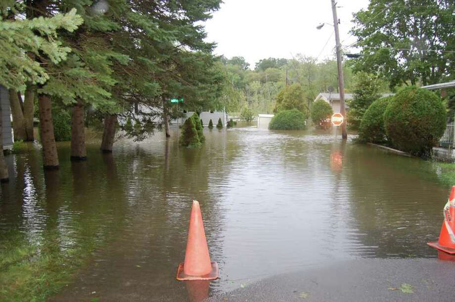 "User-submitted photo of damage from Hurricane Irene.  Submitted by deeann ""Jensen's Park"" Photo: Contributed"