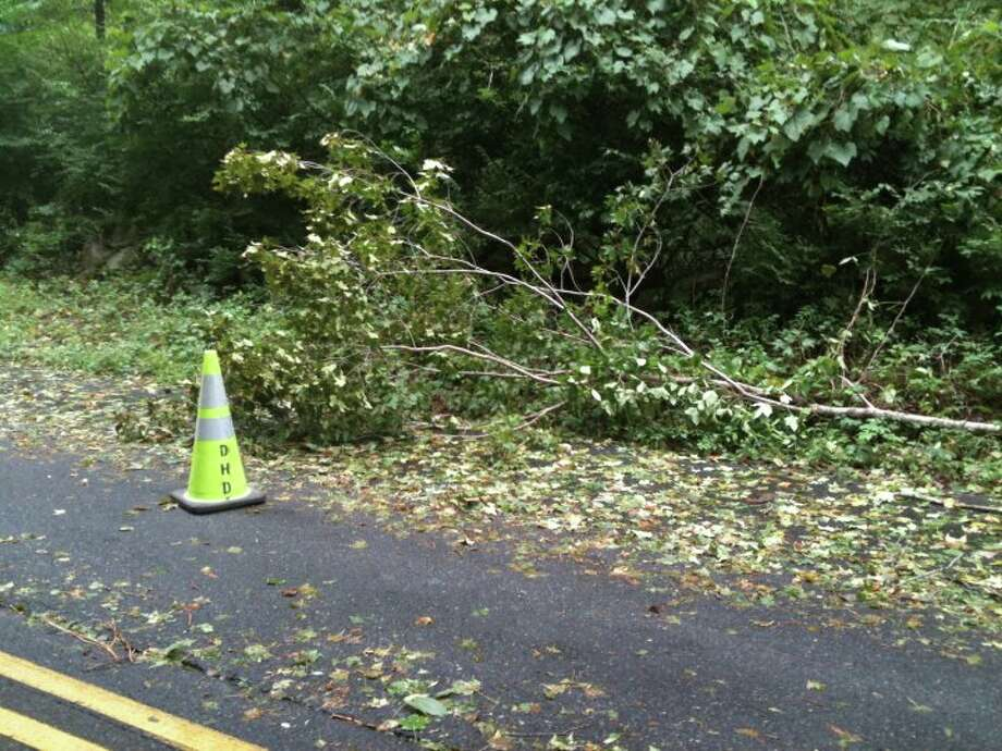 "User-submitted photo of damage from Hurricane Irene.  Submitted by ""Danbury"" ""really?"" Photo: Contributed"