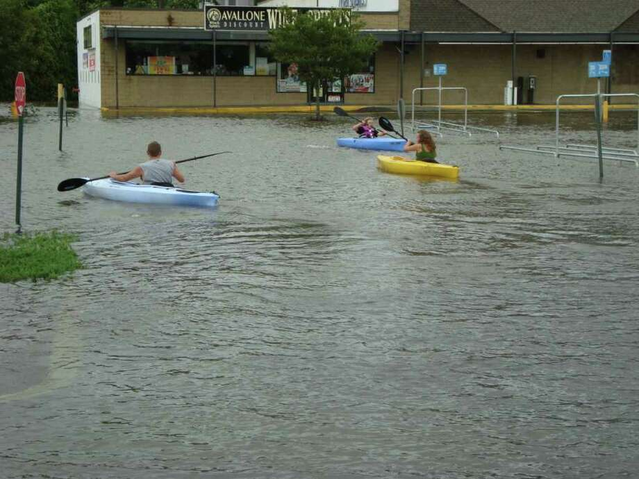 "User-submitted photo of damage from Hurricane Irene.  Submitted by Dani ""Kayaking on Newtown Road"" Photo: Contributed"