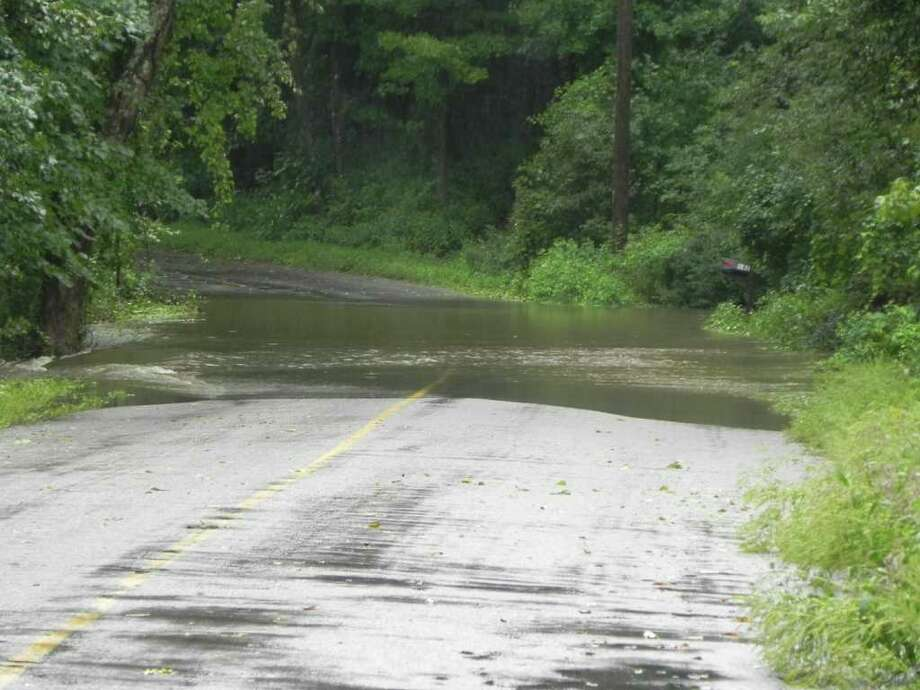 "User-submitted photo of damage from Hurricane Irene.  Submitted by jenn ""Irene in New Milford"" Photo: Contributed"