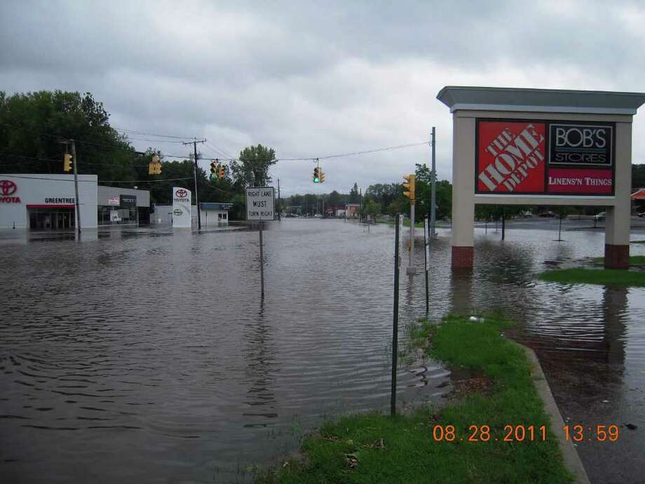 User-submitted photo of damage from Hurricane Irene.  Submitted by Photo: Contributed