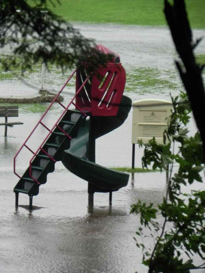 """User-submitted photo of damage from Hurricane Irene.  Submitted by jenn """"Irene in New Milford"""" Photo: Contributed"""