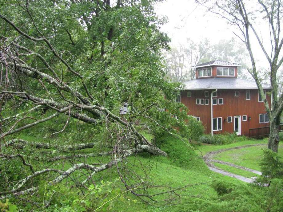 "User-submitted photo of damage from Hurricane Irene.  Submitted by Chris ""Uprooted Tree"" Photo: Contributed"