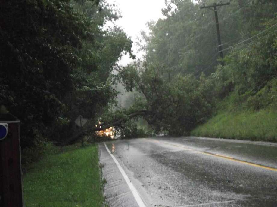 "User-submitted photo of damage from Hurricane Irene.  Submitted by MB ""New Milford CT RT 202"" Photo: Contributed"