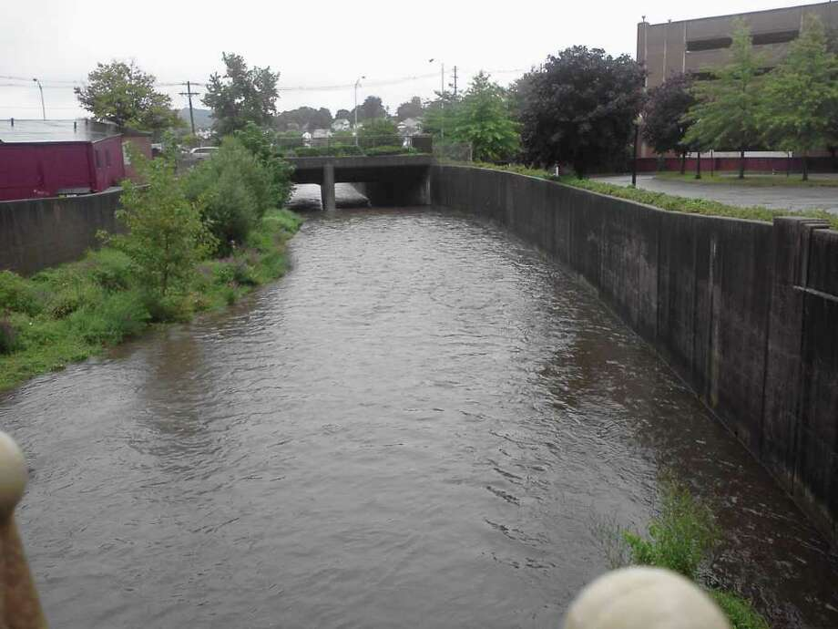 "User-submitted photo of damage from Hurricane Irene.  Submitted by Hal ""The Still River at 3pm on Saturday (8/27).  Looking east from White Street."" Photo: Contributed"