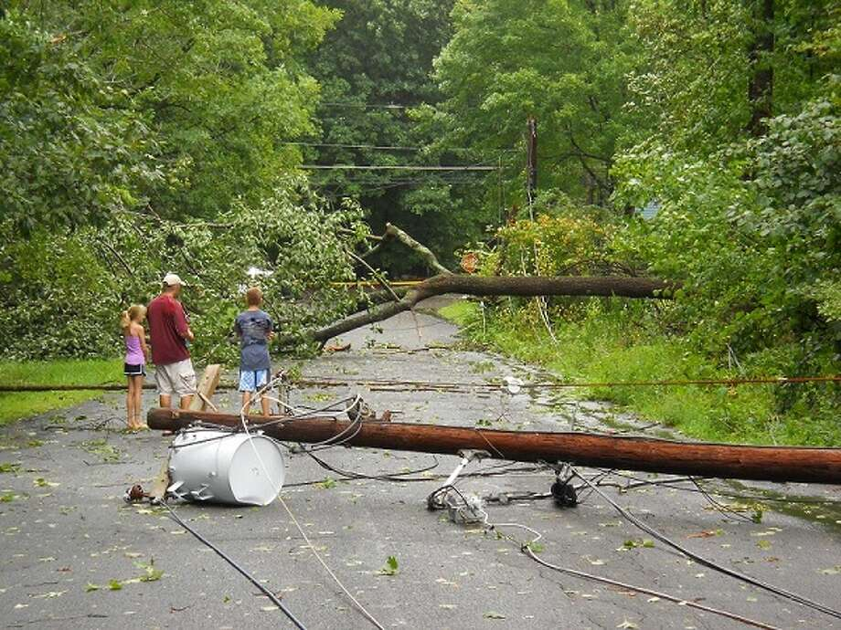 "User-submitted photo of damage from Hurricane Irene.  Submitted by rf ""Still trapped"" Photo: Contributed"