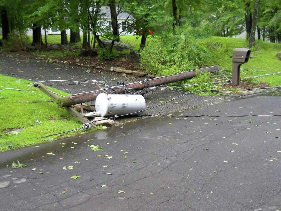 "User-submitted photo of damage from Hurricane Irene.  Submitted by rf ""Irene mess"" Photo: Contributed"