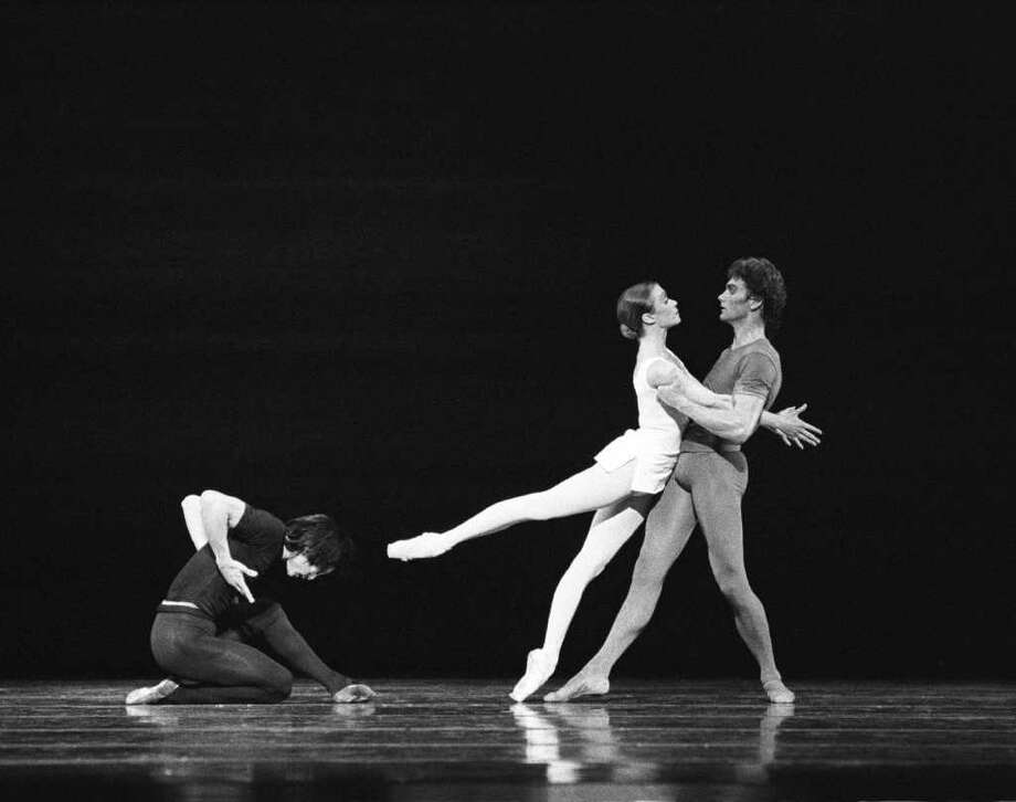 Li Cunxin, from left, Janie Parker and Greg Garrett performed Song of the Earth when Houston Ballet first performed it in 1988; it was the masterpiece's American premiere. Photo: Jim Caldwell, Photographer