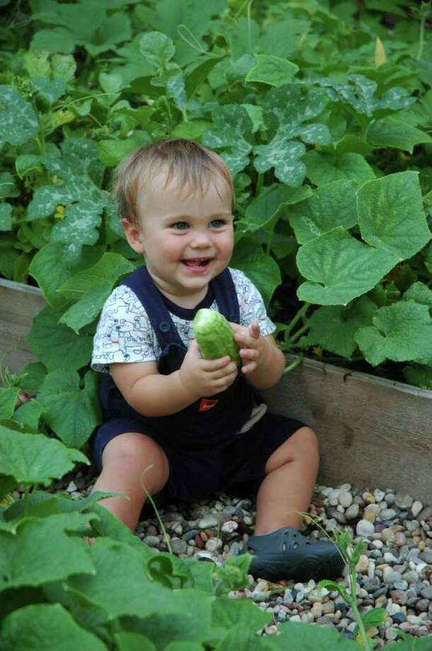 Tad Hruska decided cucumbers were a favorite when he was a toddler. Photo: Rame Hruska