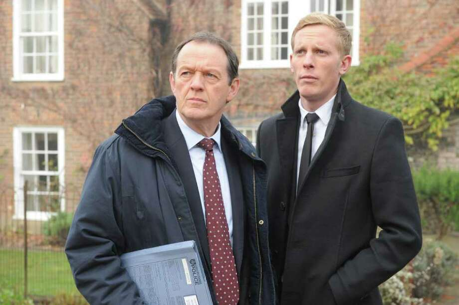 (L to R): Kevin Whately as DI Lewis and Laurence Fox as DS James Hathaway. Photo: PBS