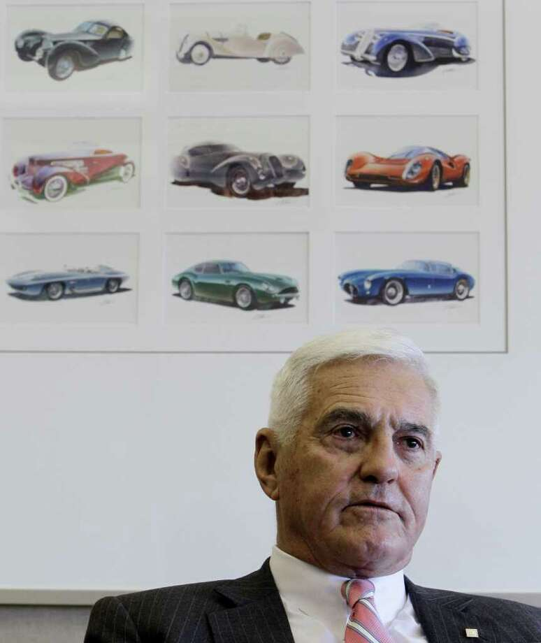 FILE - In this file photo taken March 11, 2010, Bob Lutz, General Motors Corp. (then) vice chairman is shown during an interview with the Associated Press in Warren, Mich. General Motors Co. is hiring former Vice Chairman Bob Lutz to advise its senior leaders. The 79-year-old was providing advice informally since his retirement last year. (AP Photo/Paul Sancya, File) Photo: Paul Sancya, STF / AP2010