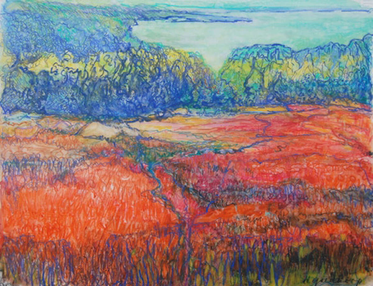 """""""Maine Landscape,"""" by Wilson Avenue Loft Artsits Association member Hanneke Goedkeep, will be on view at the Lockwood-Mathews Mansion Museum as part of the exhibition, """"Tidal Connections."""""""