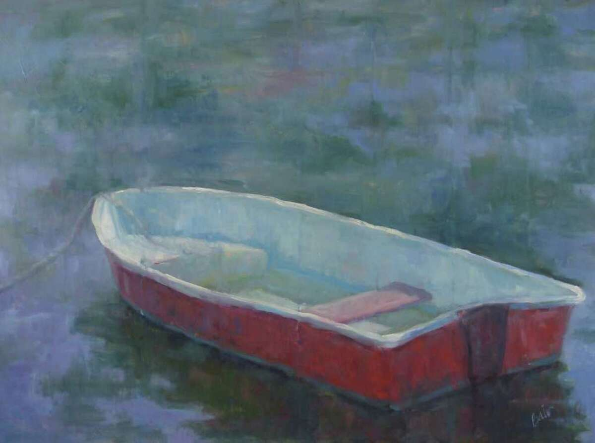 """""""Neighborhood Dinghy,"""" by Wilson Avenue Loft Artsits Association member Britt Bair, will be on view at the Lockwood-Mathews Mansion Museum as part of the exhibition, """"Tidal Connections."""""""