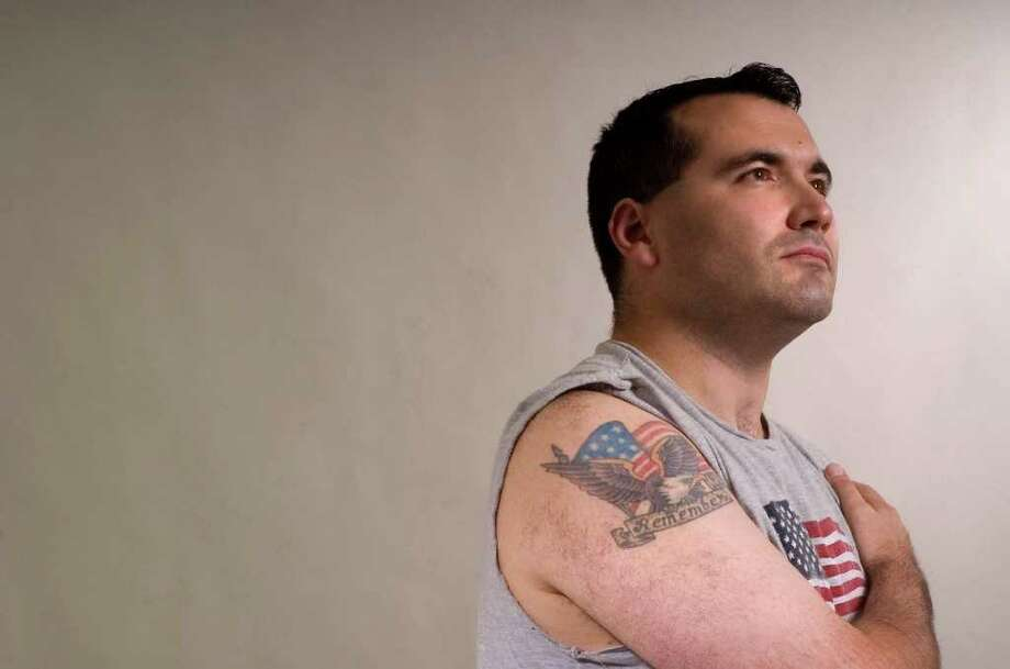 Brookfield resident Matt Grimes, 32, worked at AIG, a few blocks away from the Twin Towers, when they were attacked on Sept. 11, 2001. Photo: Jason Rearick / The News-Times