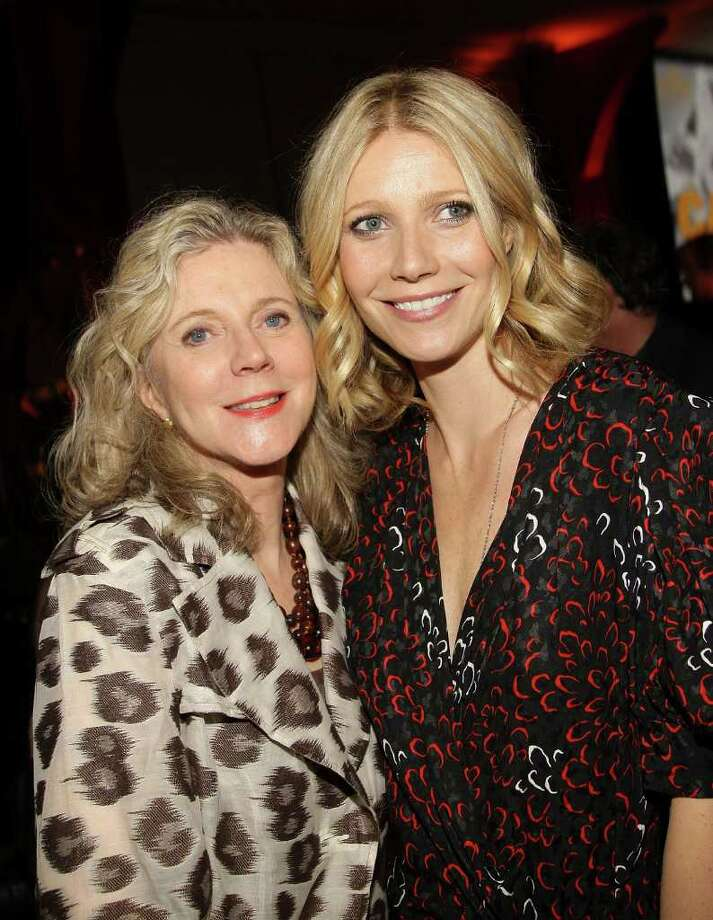 """Actress Blythe Danner, pictured in 2008 with daughter Gwyneth Paltrow, was seen with Melanie Lynskey (""""Two and a Half Men"""") at Viva Zapata Mexican Restaurant on Riverside Avenue in Westport on Tuesday. (Photo by Stephen Lovekin/Getty Images) Photo: Stephen Lovekin, Getty Images / 2008 Getty Images"""