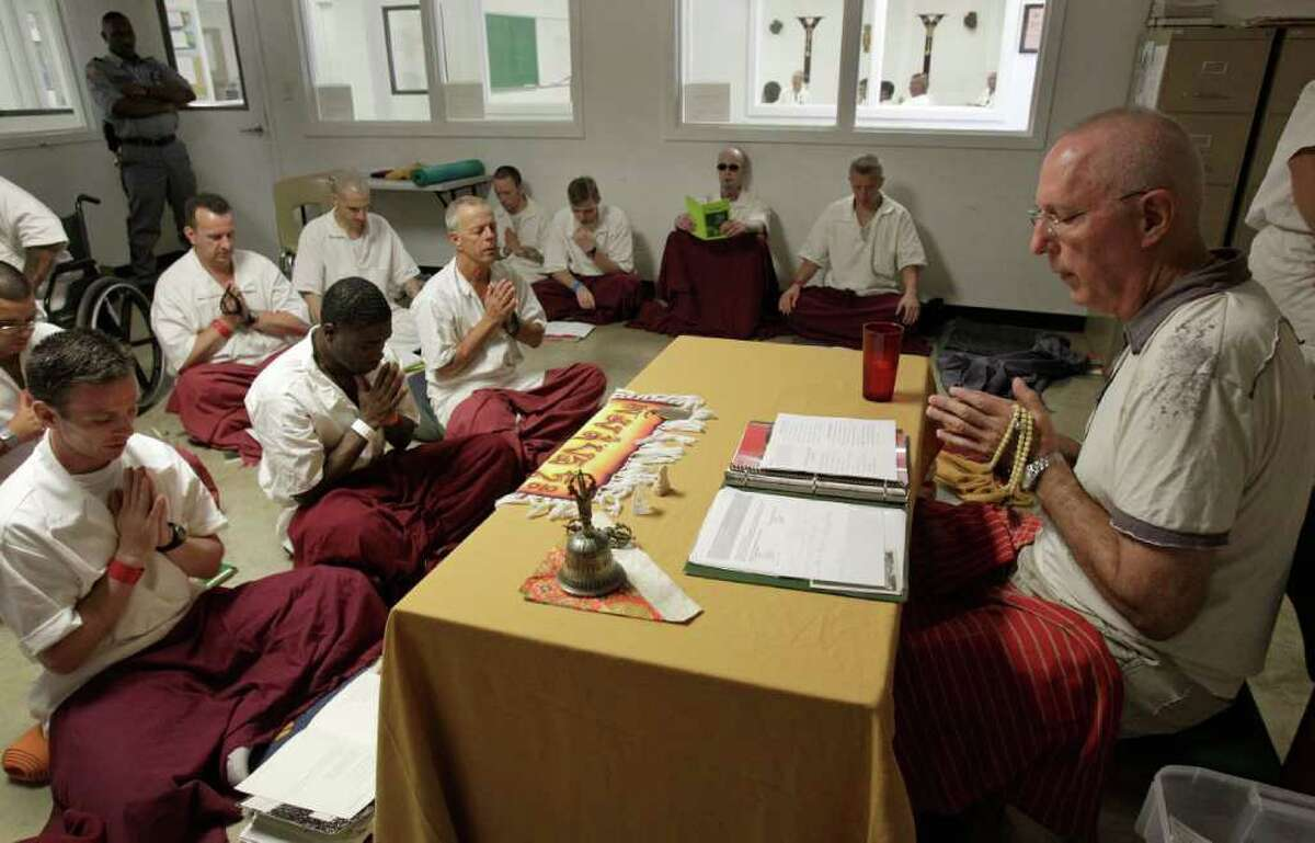 Conrad, in addition to teaching a meditation class to prisoners, teaches a Buddhism-based ethics class.