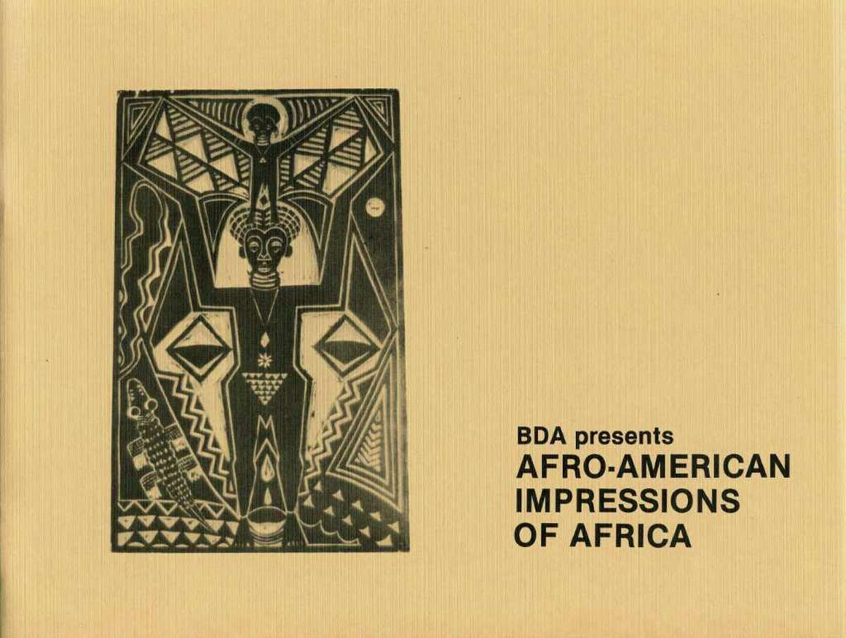 Cover of brochure for Black Dimensions in Art