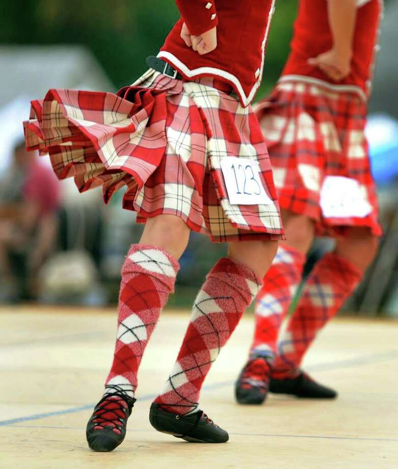 Girls dance for judges at the Scottish dance competition during the Scottish Games on Saturday, Sept. 3, 2011, at Altamont Fairgrounds in Altamont, N.Y. (Cindy Schultz / Times Union) Photo: Cindy Schultz