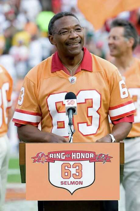TAMPA, FL - FILE:  Hall of Fame defensive end Lee Roy Selmon is inducted into the Buccanners Ring of Honor at halftime of the Tampa Bay Buccaneers game against the Green Bay Packers at Raymond James Stadium on November 8, 2009 in Tampa, Florida. It was reported that former Tampa Bay Buccaneers defensive end Lee Roy Selmon has been hospitalized after suffering a stroke September 3, 2011. (Photo by J. Meric/Getty Images) Photo: J. Meric, Stringer / 2009 Getty Images
