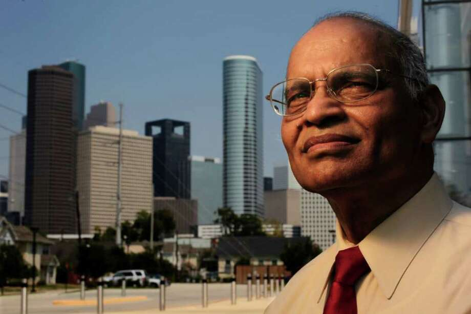 "Of the Indian project, Krishna Vavilala says, ""Before we kick the bucket, we may as well leave some footsteps in the sand."" Photo: Johnny Hanson, Staff / © 2011 Houston Chronicle"
