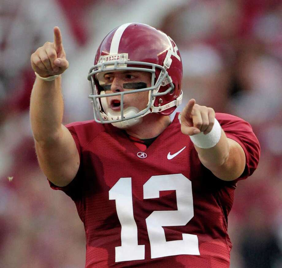 Greg McElroy signed with Alabama out of Southlake Carroll in 2006 and won a national title in 2009. Photo: Dave Martin, STF / AP
