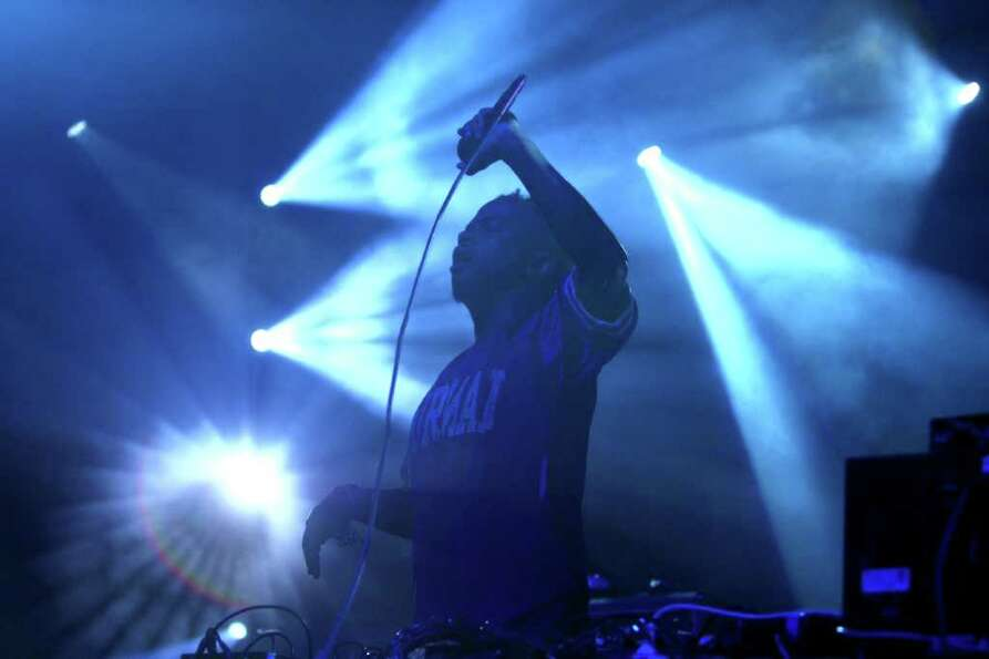 CX KiDTRONiK performs with Atari Teenage Riot.