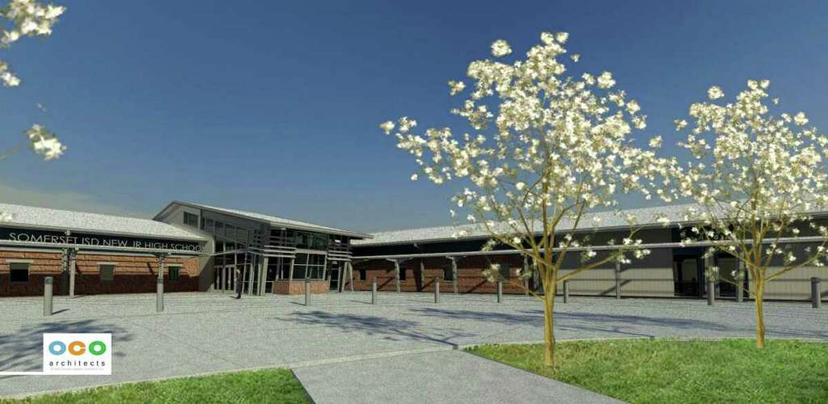 This illustration shows the design for the new Somerset junior high school, expected to be completed by fall 2012.