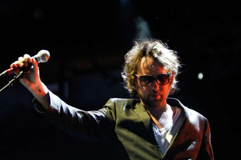 Kevin Drew of Broken Social Scene sings. Photo: JOE DYER / SEATTLEPI.COM