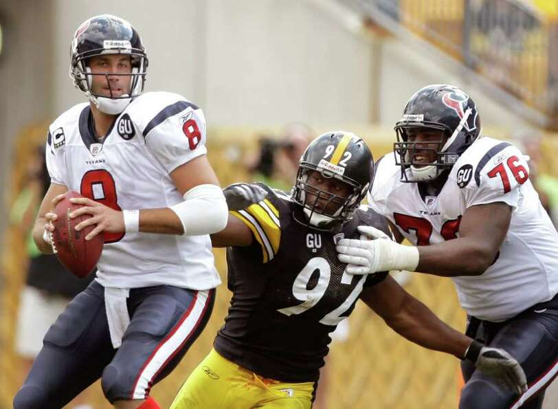 Week 4, Oct. 2. Noon, CBS. vs. Steelers. Texans prove they aren't soft with their most physical si