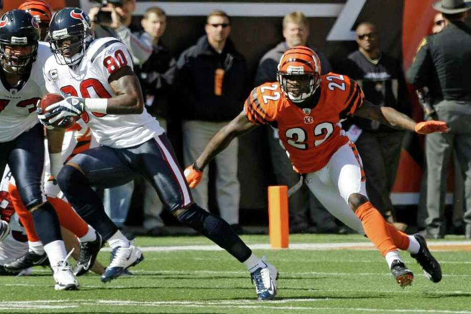 Week 14, Dec. 11. Noon, CBS. at Bengals. Williams, Barwin, Reed and Brian Cushing register sacks against rookie Andy Dalton. Johnathan Joseph returns interception for touchdown. Texans 31, Bengals 13. Record: 9-4 Photo: Brett Coomer, Houston Chronicle / Houston Chronicle