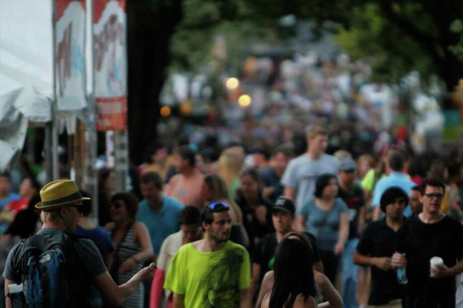 The crowd at Bumbershoot 2011. Photo: JOE DYER / SEATTLEPI.COM