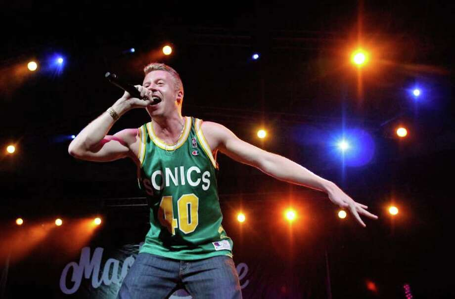 """Thrift Shop,"" the rap single from Macklemore and Ryan Lewis, topped the Billboard Hot 100 chart on Jan. 23, 2013. They are the first Seattle artists to top the list since Sir-Mix-a-Lot had ""Baby Got Back"" in 1992.