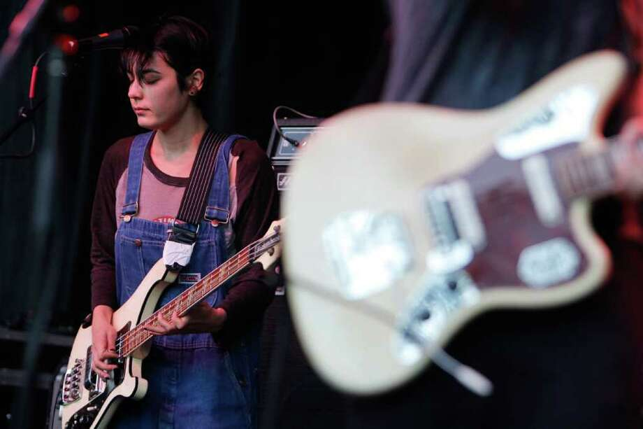 Jenny Lee Lindberg of the band Warpaint performs. Photo: Joe Dyer / Seattlepi.com