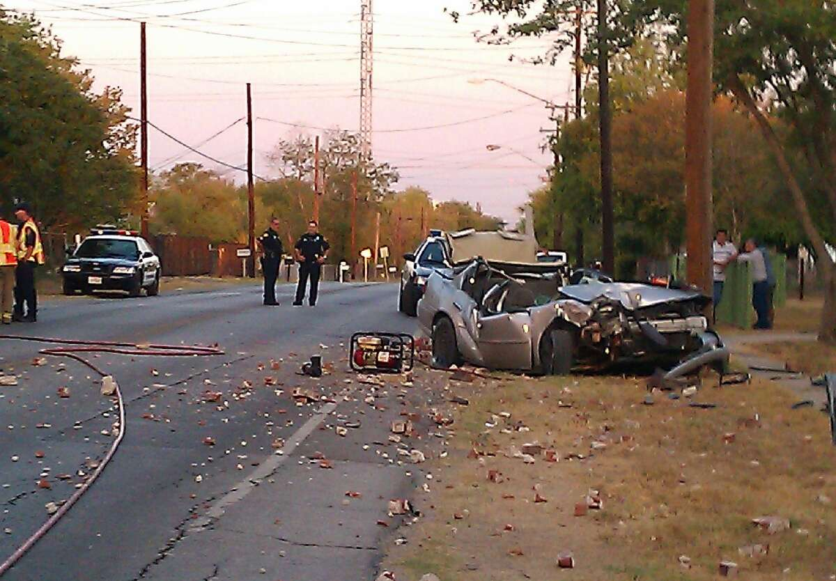 One man was killed in a car crash when around 6:30 a.m. he apparently lost control of his vehicle and slammed into a brick-enclosed mailbox and a utility pole in the 300 block of Gillette Boulevard.