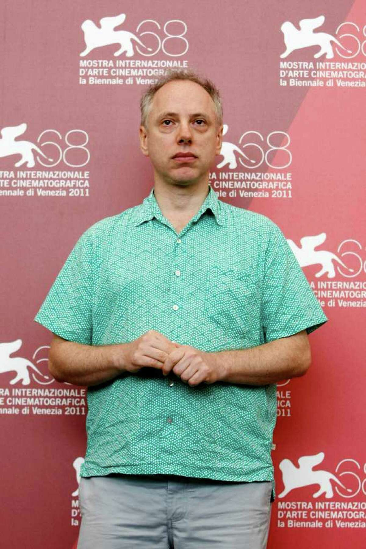 Director Todd Solondz poses during the photo call for the movie Dark Horse at the 68th edition of the Venice Film Festival in Venice, Italy, Monday, Sept. 5, 2011. (AP Photo/Andrew Medichini)