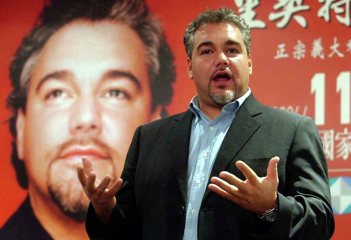 FILE - In this Wednesday, Nov. 8, 2006 file photo, Italian tenor singer Salvatore Licitra performs during a media event in Taipei, Taiwan. Salvatore Licitra has died in the Garibaldi Hospital in Catania, Sicily, Monday morning, Sept. 5, 2011, without ever regaining consciousness after a motorscooter accident last month. (AP Photo/Chiang Ying-ying, File)