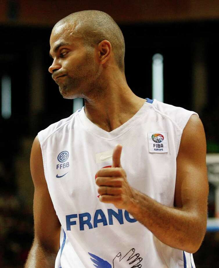 Tony Parker from France reacts during the EuroBasket European Basketball Championship Group B match against Latvia in Siauliai, Lithuania, Wednesday, Aug. 31, 2011. Photo: Petr David Josek/Associated Press / AP