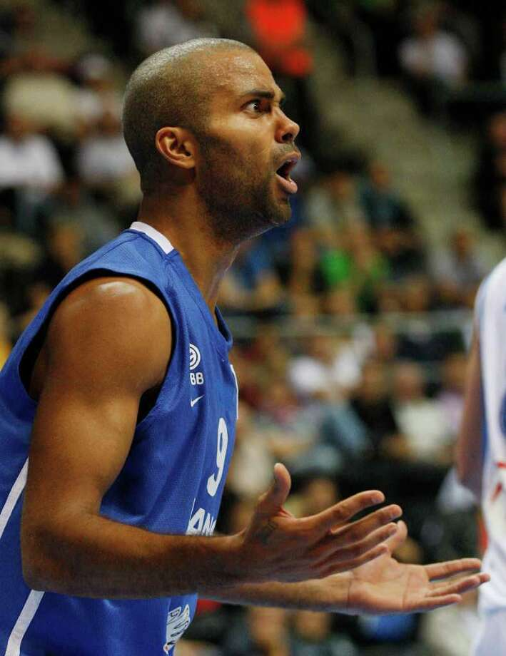 Tony Parker of France reacts during the EuroBasket European Basketball Championship Group B match against Israel in Siauliai, Lithuania, Thursday, Sept. 1, 2011. Photo: Petr David Josek/Associated Press / AP